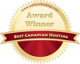 Best Canadian Web Host Award